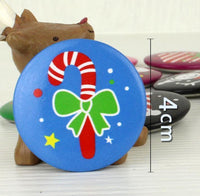 10pcs Christmas ID Badge patterns randomly Party Santa Claus Snowman XMAS Tree stocking patterns Button brooch Pin new year gift - 10MINUS: Online Shopping Destination with High-Quality
