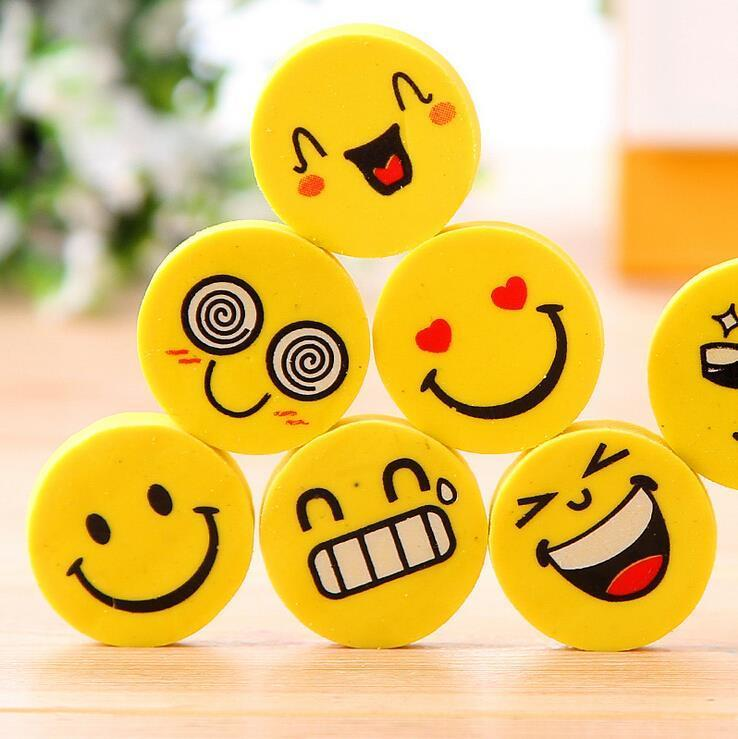 4 Pcs/lot Smile Face Erasers Rubber For Pencil Kid Funny Cute Stationery Novelty Eraser Office Accessories School Supplies - 10MINUS: Online Shopping Destination with High-Quality
