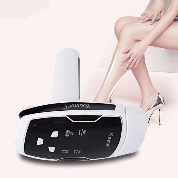 Kemei Epilator Female Photon Laser Facial Hair Removal Depilatory Shaver Razor Device Face Skin Care Tool for Women EU Plug - 10MINUS: Online Shopping Destination with High-Quality