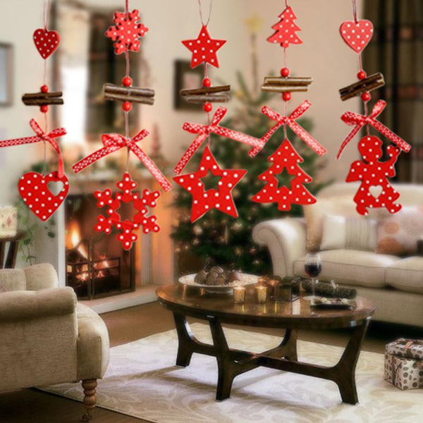 Wind Chimes Christmas Tree Ornaments Snowflake Heart Star Bell Xmas Party Home Christmas Decor Navidad Decoration - 10MINUS: Online Shopping Destination with High-Quality