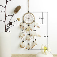 Indian Style Handmade  Dream Catcher Net With Feathers Hanging Decoration