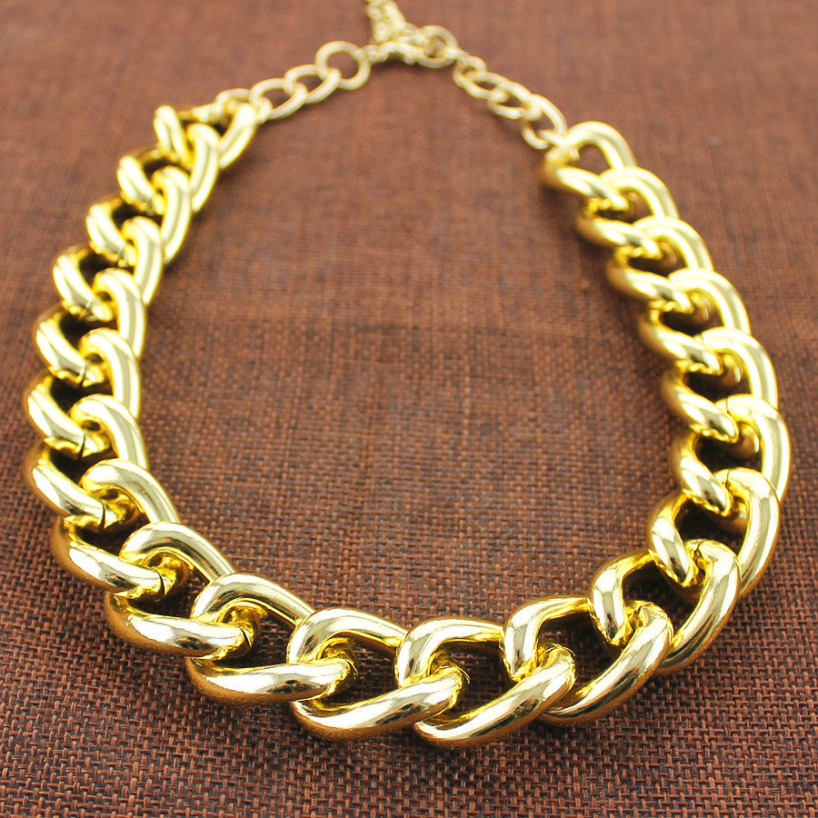 Fashion exaggerated aluminum chain Ms necklace Men's Energy short necklace 2017 accessories manufacturers wholesale - Best price in 10minus
