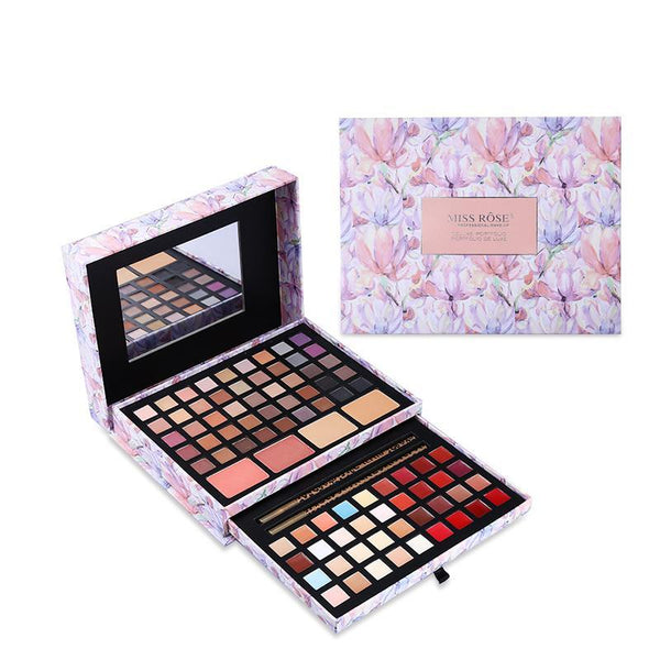 Professional Flower Makeup Cosmetic Set Gift For Women Eyeshadow Lipstick Concealer Blush Mirror - 10MINUS: Online Shopping Destination with High-Quality