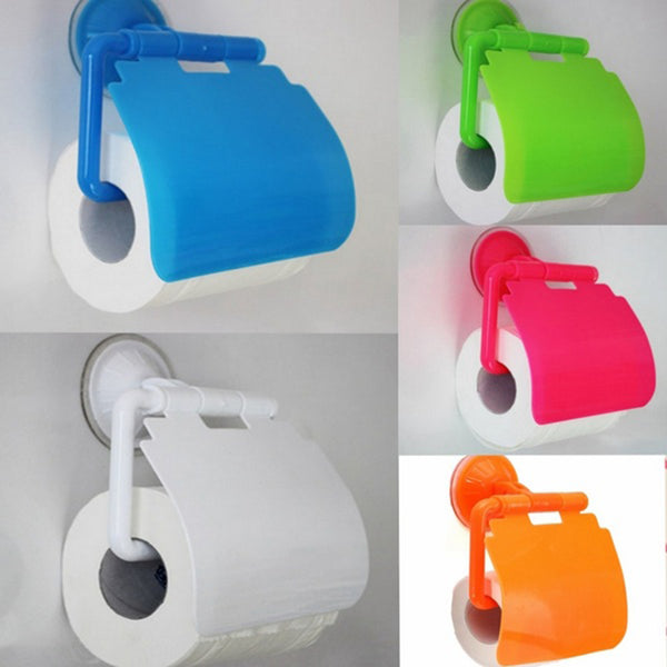 Wall Mounted plastic Bathroom Toilet Paper Holder With Cover porta