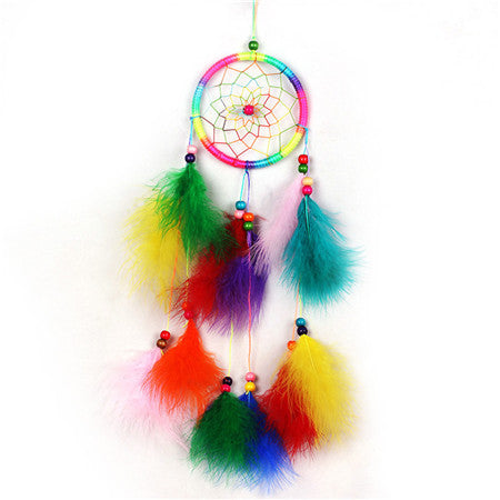 Dreamcatcher India Style Handmade Dream Catcher Net With Feathers Wind