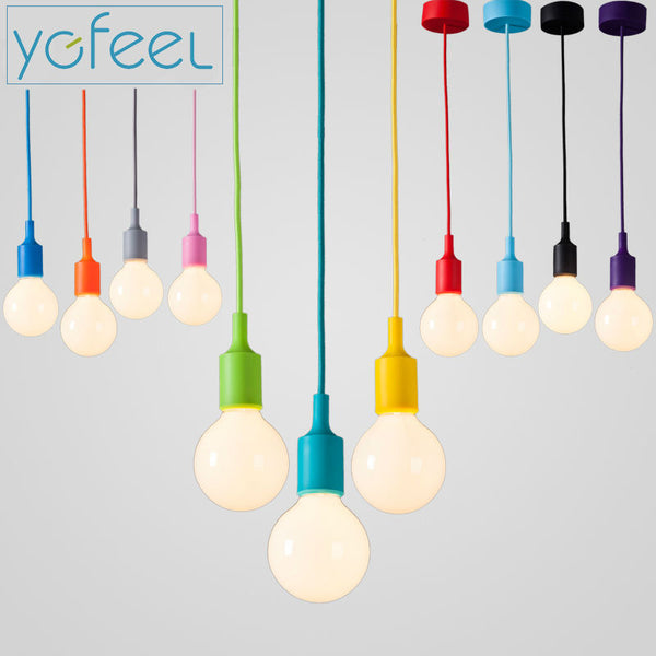 Modern Colorful Pendant Lights Dining Room Pendant Lamps Silica Gel Material Thirteen Colors