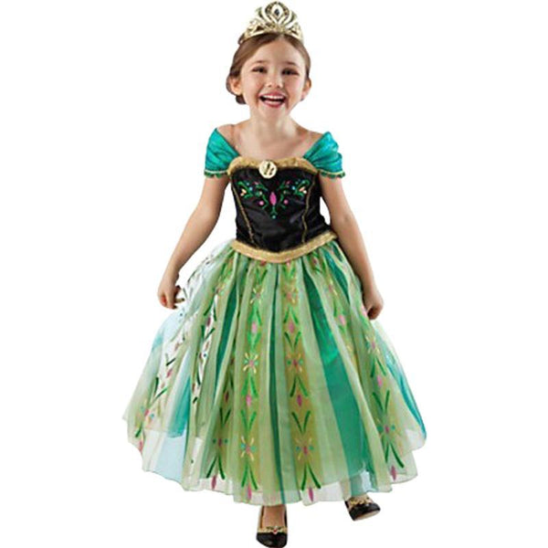 Girl Fashion Elsa Anna Dress Children Clothing Girls Princess Elsa