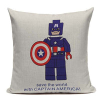 home textile Almofadas Decorative Cojines Red Cushion Cover Superheroes