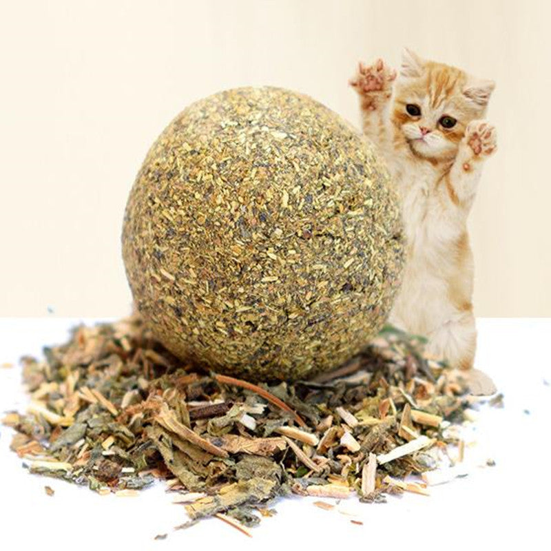 1 pcs Cat Toy Natural Catnip Treat Ball Favor Home Chasing Pet Toys Healthy Safe 100% Edible Treating Dog Cat Training Tools - 10MINUS: Online Shopping Destination with High-Quality