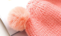 1pcs Children's winter warm hat Children's cap for girls boys casual baby caps Ball Letter - 10MINUS: Online Shopping Destination with High-Quality