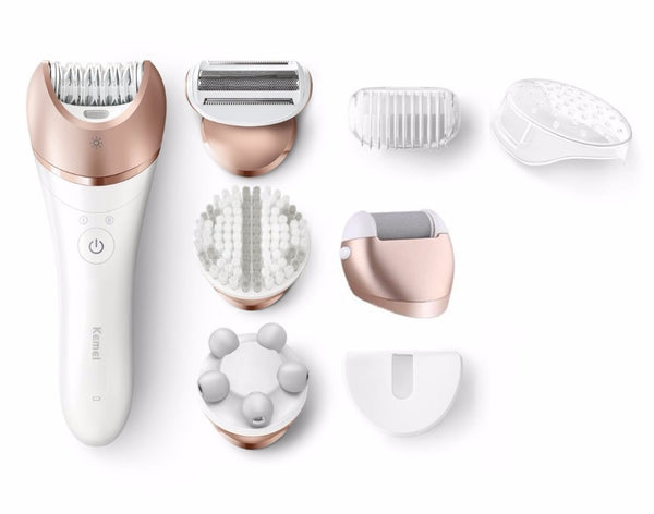 5in1 wet dry epilator women shaver female shaving machine electric lady bikini trimmer depilation 110v/220v Corded/Cordless - 10MINUS: Online Shopping Destination with High-Quality