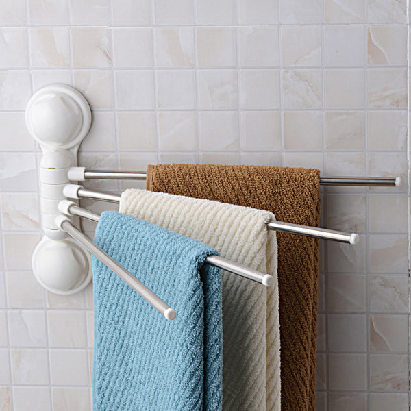 Stainless Steel Towel Bars Rust Proof Suction Cup Towel Rack
