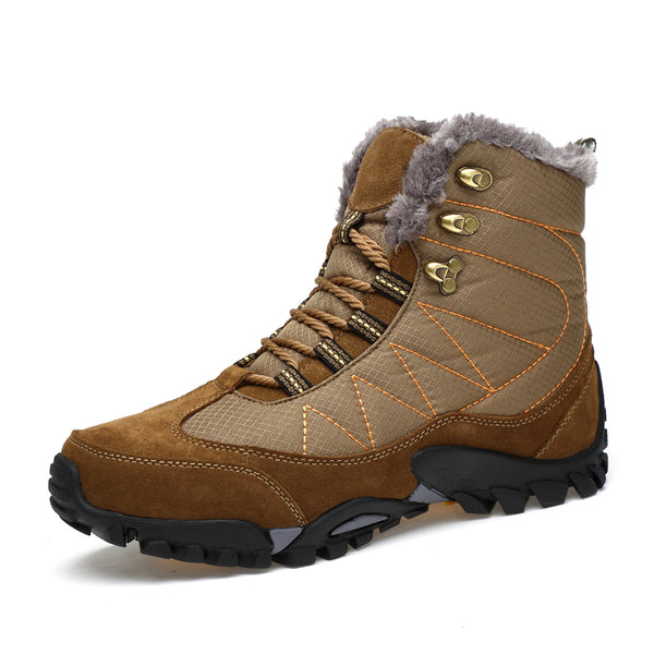 Winter Men's Outdoor Warm Cotton Hiking Sports Boots Shoes Men High top Camping Sneakers Shoes