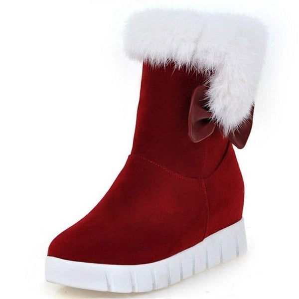 Size 34-43 Cold Winter Snow Boots Women Warm Fur Mid Calf Winter Boots Women Thick Platform - 10MINUS: Online Shopping Destination with High-Quality