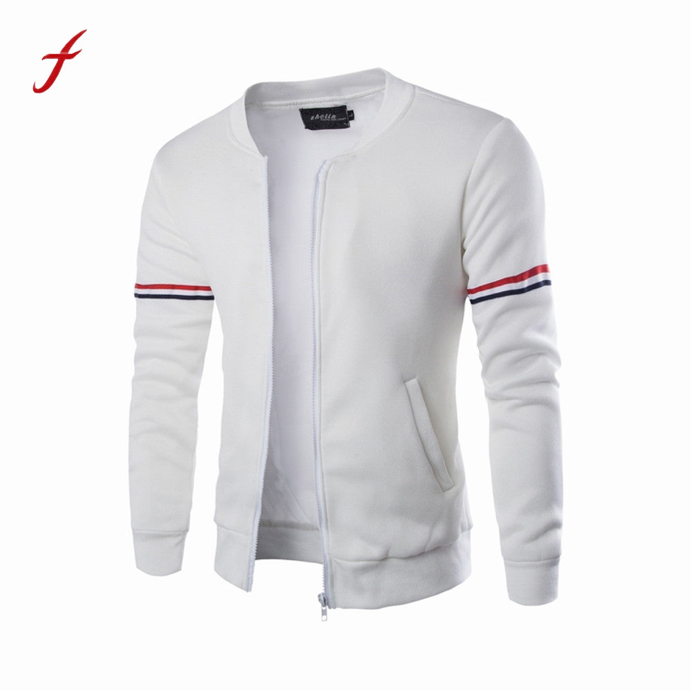 Men's sweatshirt with a zipper new bits hoodies Winter Decorative Ribbon
