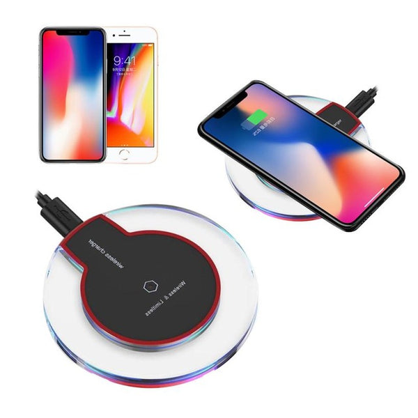 Style Clear Qi Wireless Charger Charging Pad For iPhone 8/iPhone 8 Plus battery universal phone charger - 10MINUS: Online Shopping Destination with High-Quality