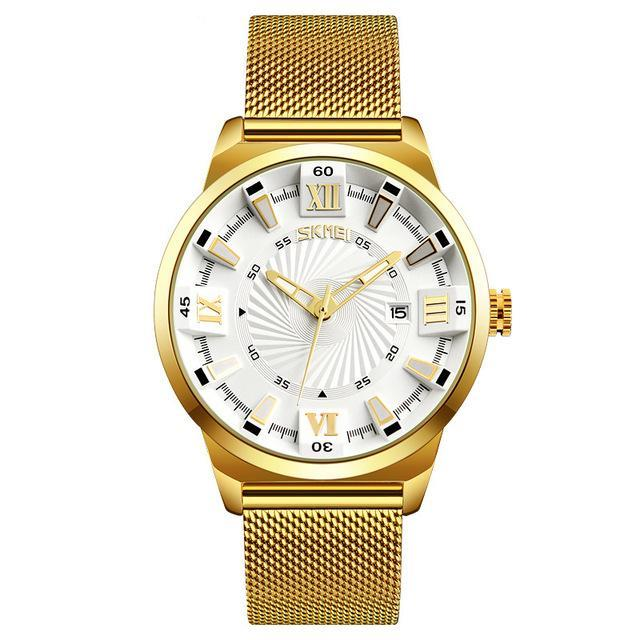 Fashion Quartz Watches Men Luxury Business Gold Watch Stainless Steel Waterproof Wristwatches Male - 10MINUS: Online Shopping Destination with High-Quality