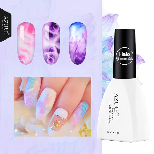 Azure Beauty Beautiful Blooming Effect Blossom Gel Lacquer 1Pcs 12ML Professional Soak Off UV Led Long-Lasting Nail Gel Polish - 10MINUS: Online Shopping Destination with High-Quality