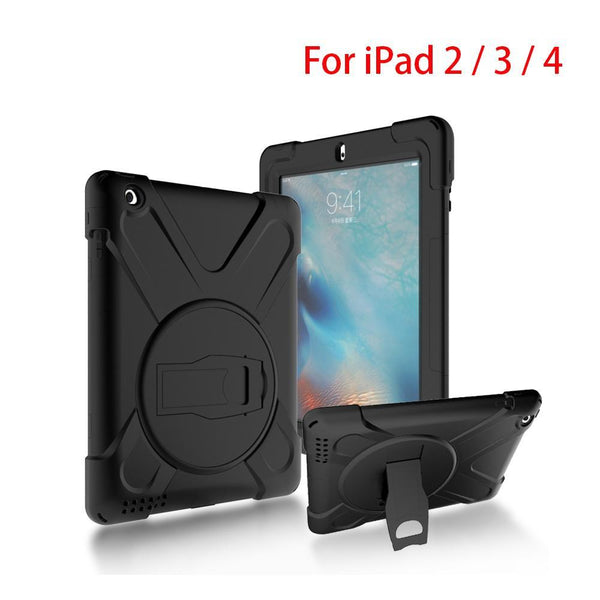 Full Body Protective Case For Apple iPad 4 3 2 Impact Resistant Hybrid Heavy Duty Armor Defender - 10MINUS: Online Shopping Destination with High-Quality