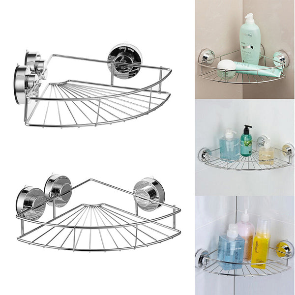 Bath Shelf Shower Caddy with Strong Suction Cups  Rustproof Stainless