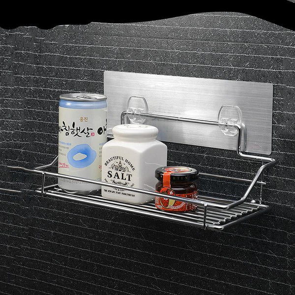 Hot Stainless Steel Bathroom Shelf Traceless Adhesive Tape Storage Holder
