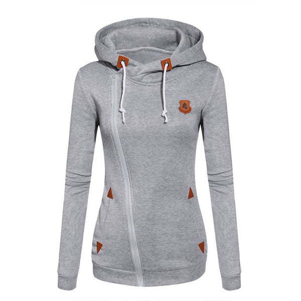 Women Fashion Fleeces Sweatshirts Hooded Candy Colors Solid Sweatshirt