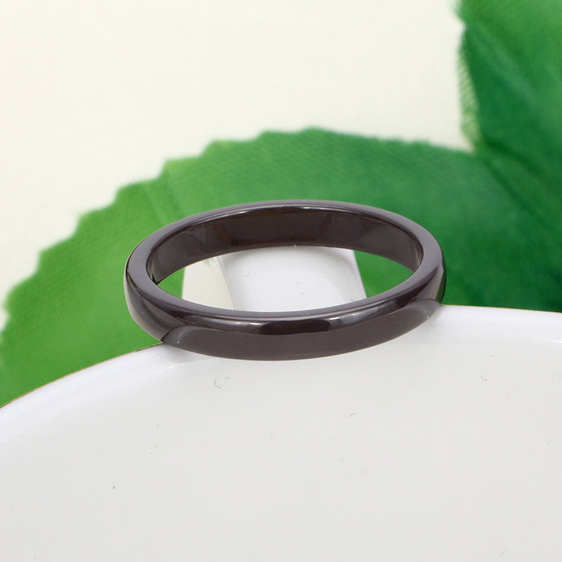 Elegant Wedding Engagement Ceramic Rings Anniversary Accessories Simple Style