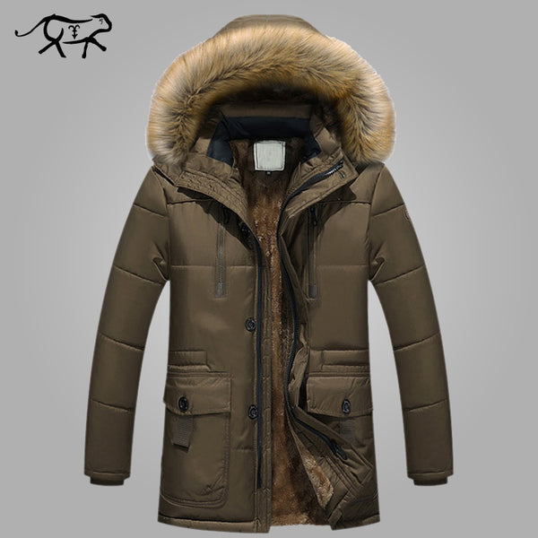 Brand Clothing Winter Men Jacket Fashion Mens Winter Parka