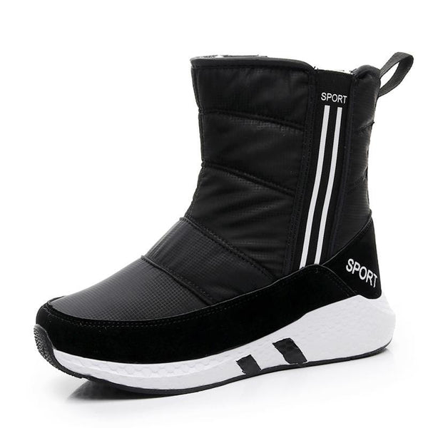 Women snow boots new arrivals thick plush winter shoes mid-calf boots high quality waterproof