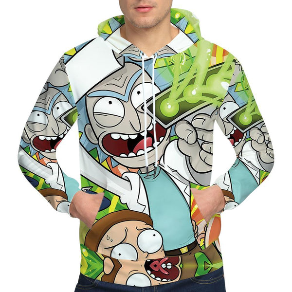 Brand Rick And Morty Sweatshirts Anime Mens Clothing Funny Sweatshirt