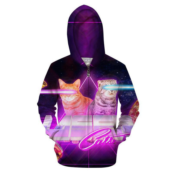Zipper Hoodies 3d Hooded Cardigan Men Women Sweatshirts Fashion