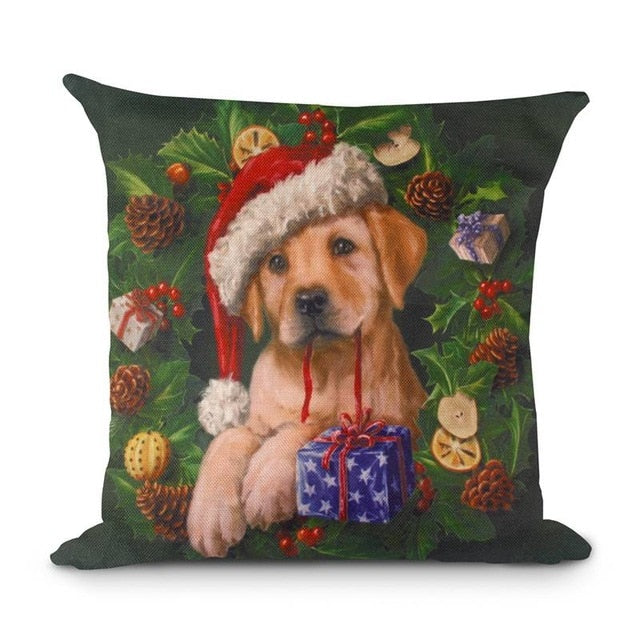 45x45cm Pillow Case Christmas Decorations For Home Santa Claus Christmas