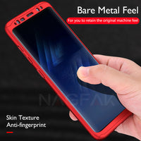 360 Degree Full Cover Phone Case For Samsung Galaxy S9 S8 Plus Shockproof