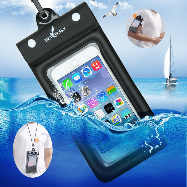 6.2 Inch Float Airbag Waterproof Swimming Bag Mobile Phone Case Cover