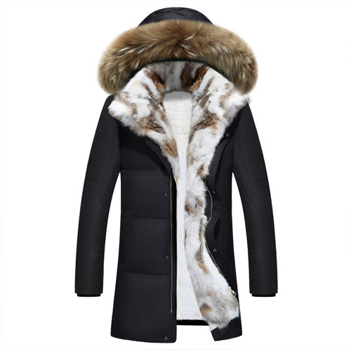 Long Hooded Parkas Men Thick Warm Mens Winter Jacket Male