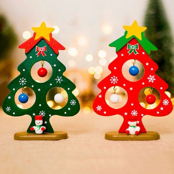 Christmas Tree Small Ornament Mini Painted Christmas Tree Decorations