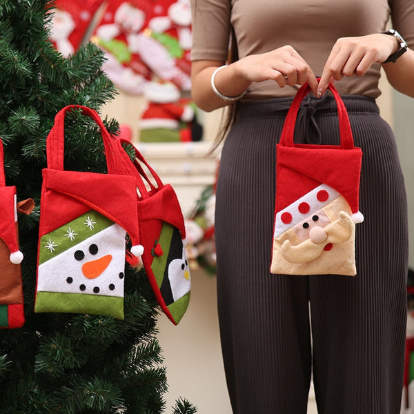 Year Merry Christmas Decorations for Home Christmas Eve Candy Gift Bag