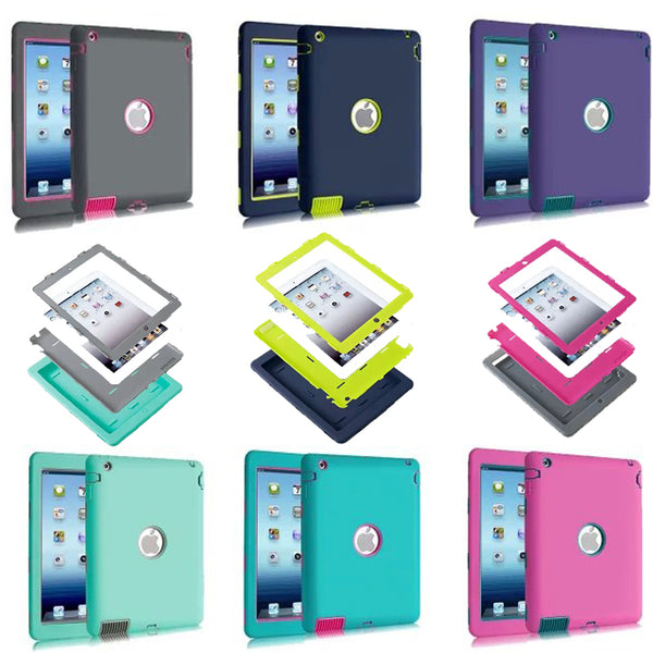 Luxury Heavy Duty Silicone Tablet Case Cover For Apple iPad 2 IPAD 3 IPAD 4 Shockproof Protective - 10MINUS: Online Shopping Destination with High-Quality
