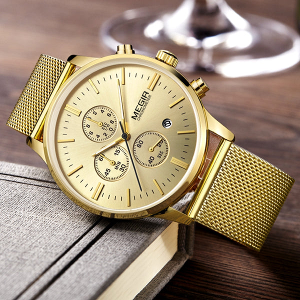 Megir gold Watch
