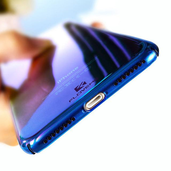 Gradient Blue-Ray Light Case - iPhone