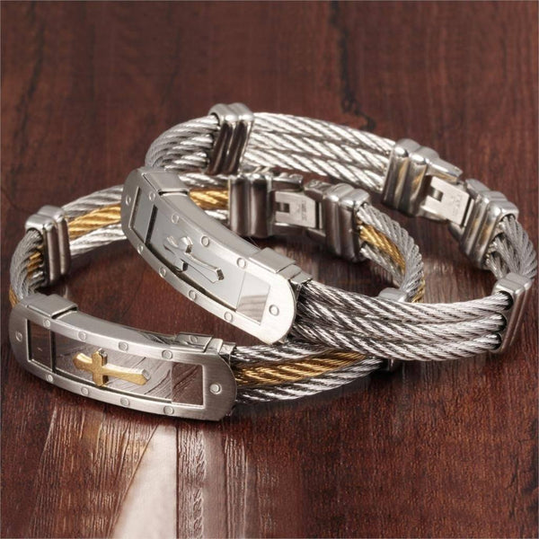 Cross Men Bracelet
