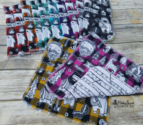 Round DD MUSLIN aka Double Gauze Scrap Packs - 8 different choices - Preorder