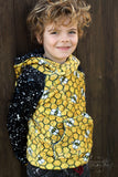 Bees kid panels - Cotton Lycra - Round AA Preorder