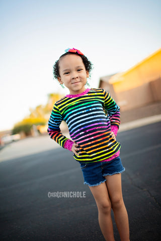 Watercolor Pride Stripe - Round Z Preorder - all bases listed here