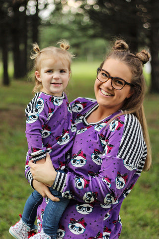 Purple Pandas with Glasses and Bows - Preorder Round X ALL BASES LISTED HERE
