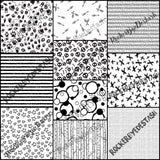 Cotton Woven ACCENT prints ROUND AA - 1 yard per quantity Coordinate designs Preorder Black and white