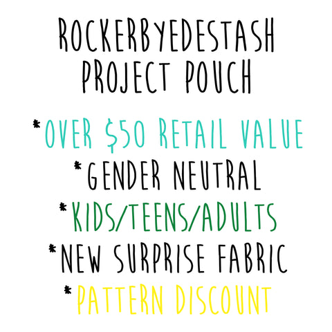 Project Pouch #1 - surprise padded flat rate with a super secret print Cotton Lycra PreOrder
