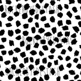 French Terry ACCENT prints ROUND X - 1 yard per quantity Coordinate designs Preorder Black and white