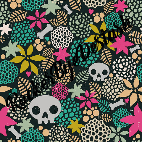 NEW Raspberry/Teal Skulls - Preorder Round X - All Bases Listed Here