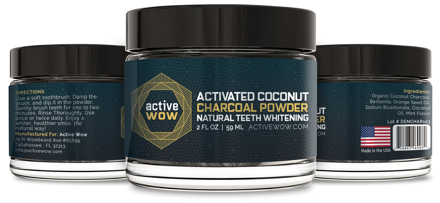 Active Wow Natural Charcoal Teeth Whitening